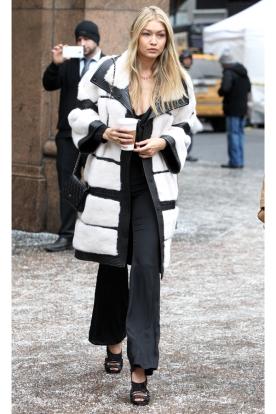 J.Mendel coat, Tabitha Simmons shoes, and a Chanel bag
